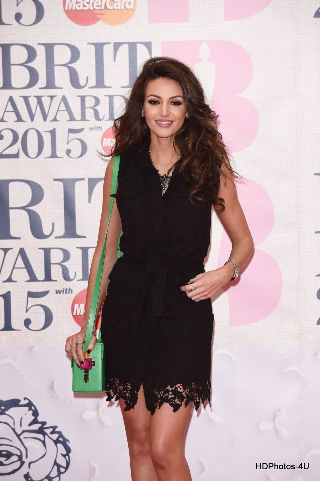 Full HQ Photos of Michelle Keegan at Brit Awards 2015 in London