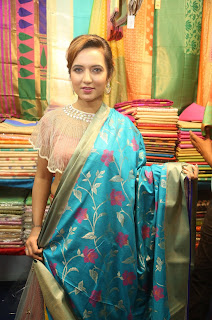 Actress Aafia Bhardwaj Inaugurates Indian Silk Expo at Sri Satyasai Nigamagamam