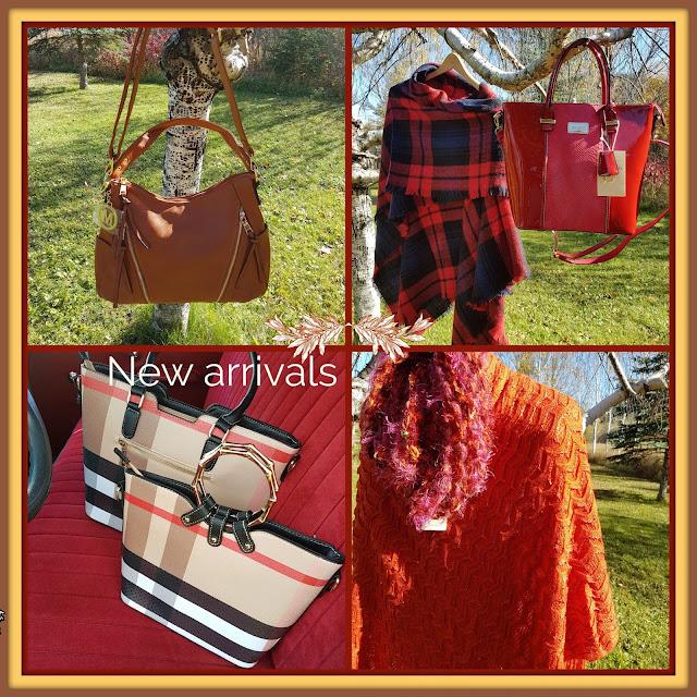 Fall purses and wraps at The Camellia