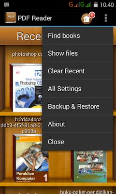 Cara membuka/membaca ebook pada android