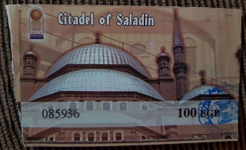 Ingresso para Cidadela de Saladino - Diário de Bordo: 2 dias no Cairo
