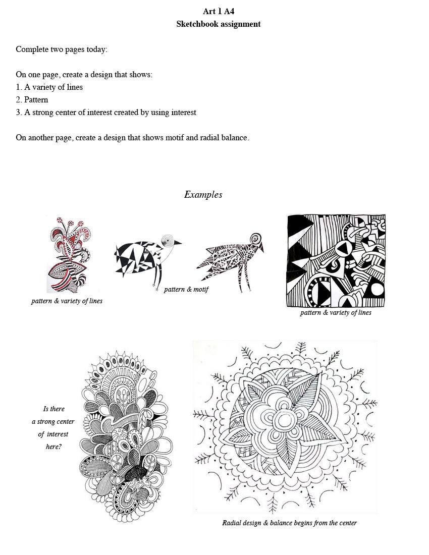 art 1 hillwood: dec 12_sketchbook assignment