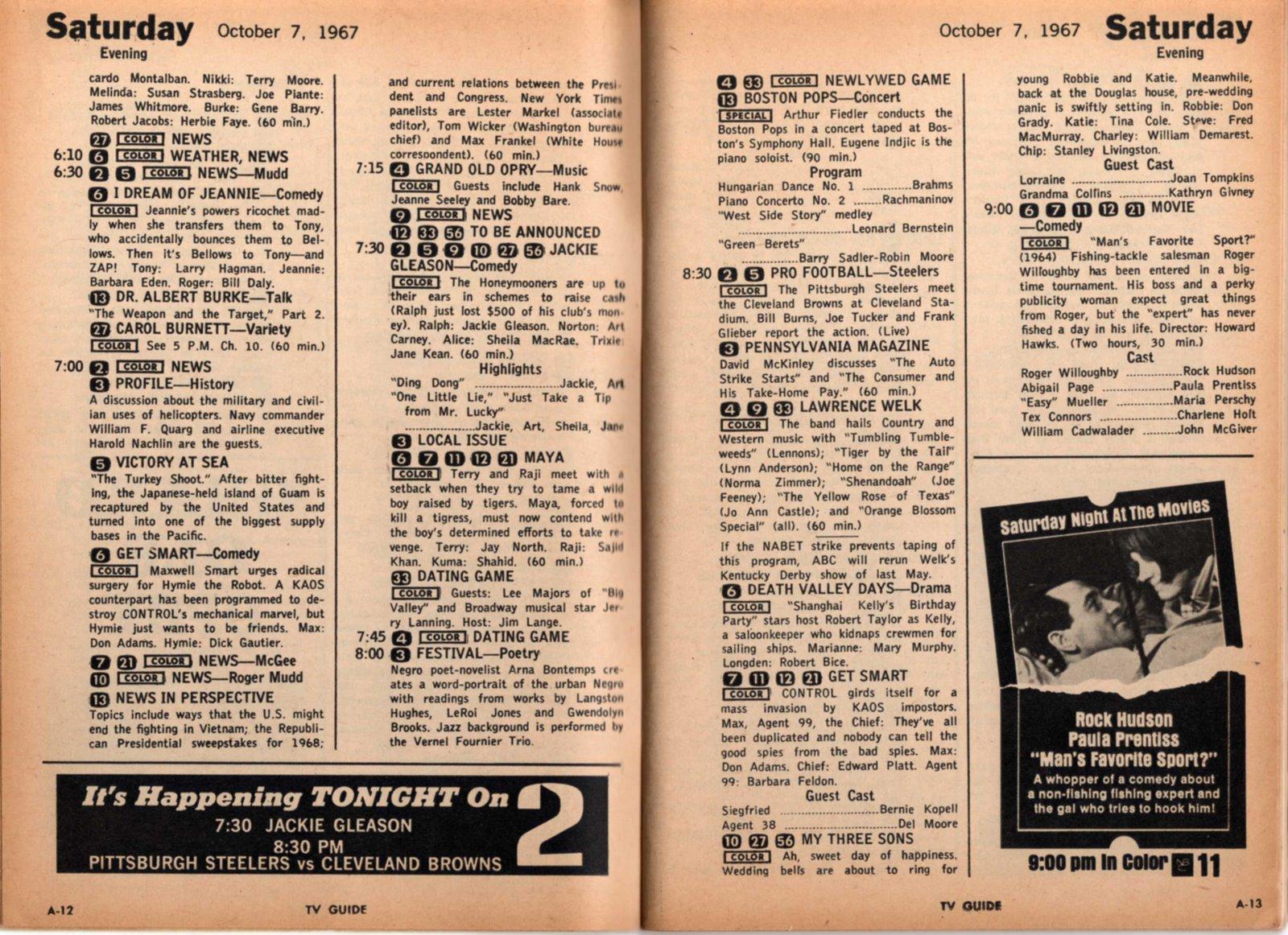 Vintage Johnstown More TV Guide 1967