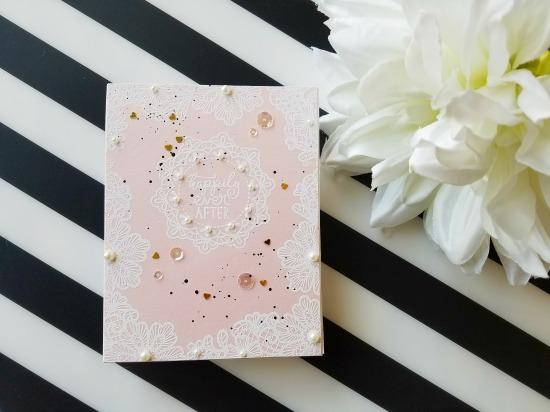 Wedding Frills Embossed Cards by May Guest Designer Rina Galit   Wedding Frills Stamp Set by Newton's Nook Designs #newtonsnook #handmade