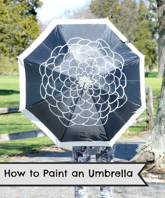 DIY umbrella painted designs