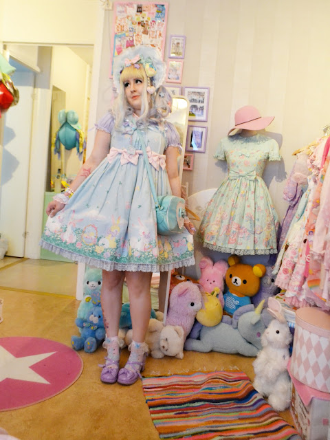 kawaii fashion pastel bunny cute j-fashion plushie