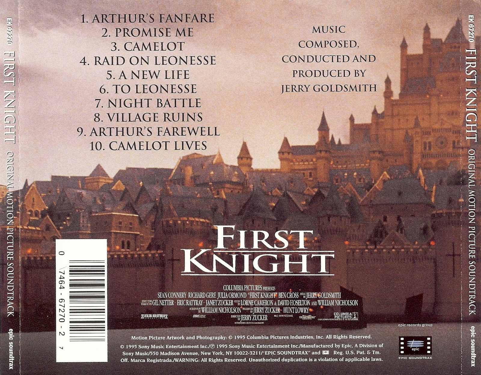 First Knight, Jerry Goldsmith