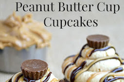 PEANUT BUTTER CUP CUPCAKES {AND A GIVEAWAY!}