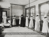 Prisoners at work in laundry, Female Division, Boggo Road, 1903.