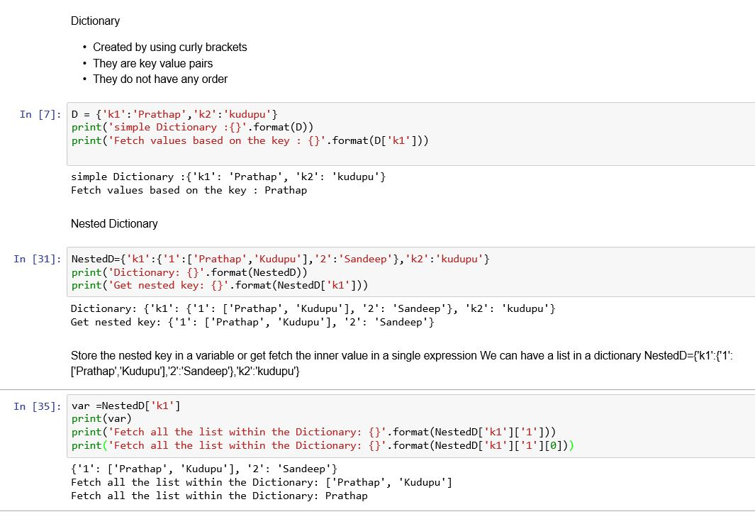 Web Snippets: Dictionary in Python