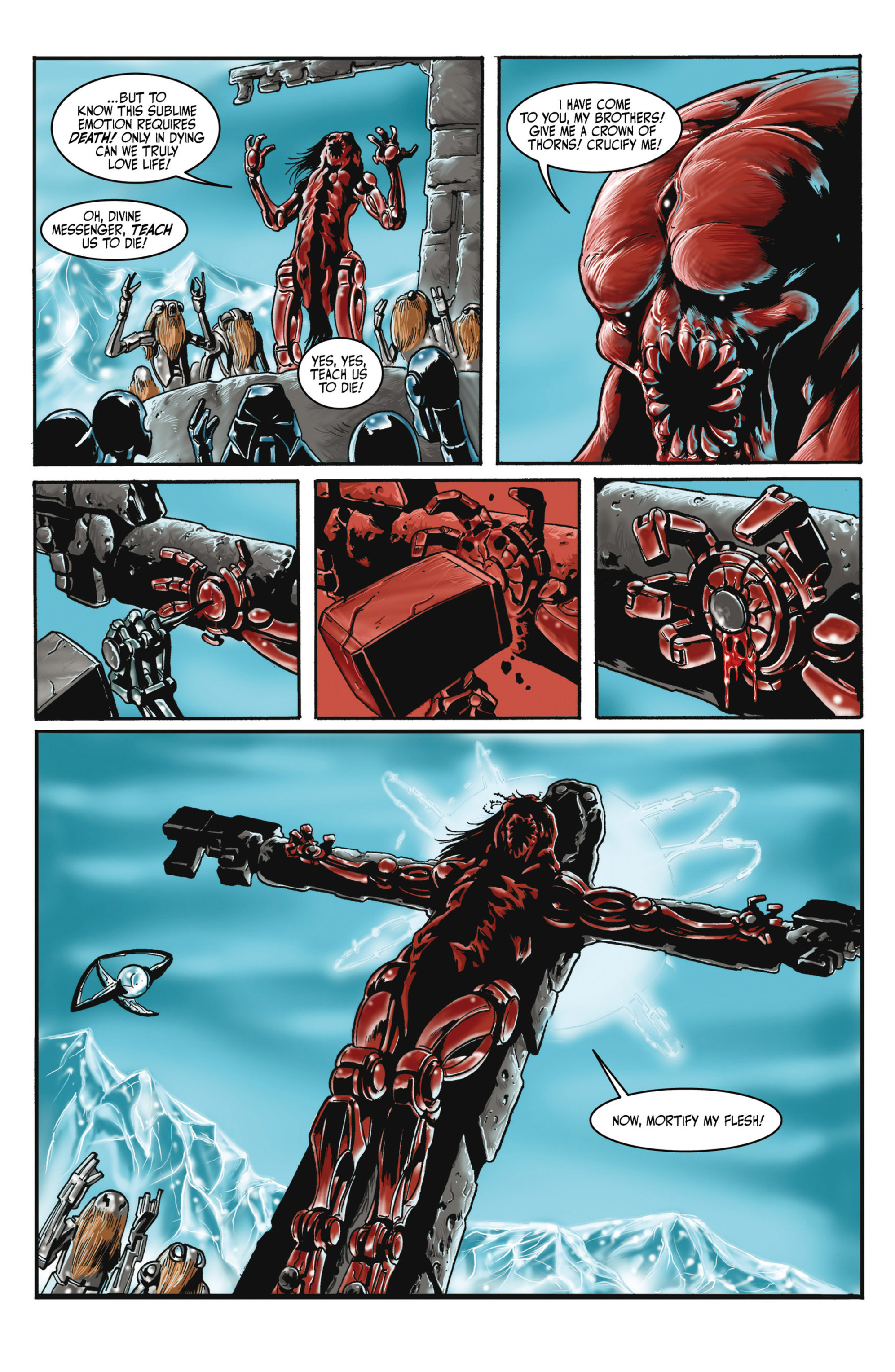 Read online Alejandro Jodorowsky's Screaming Planet comic -  Issue #2 - 14