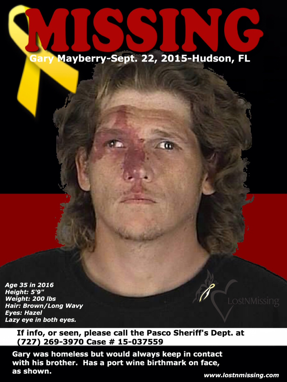 LostNMissing, Inc: Missing: Gary Mayberry - Sept  22, 2015