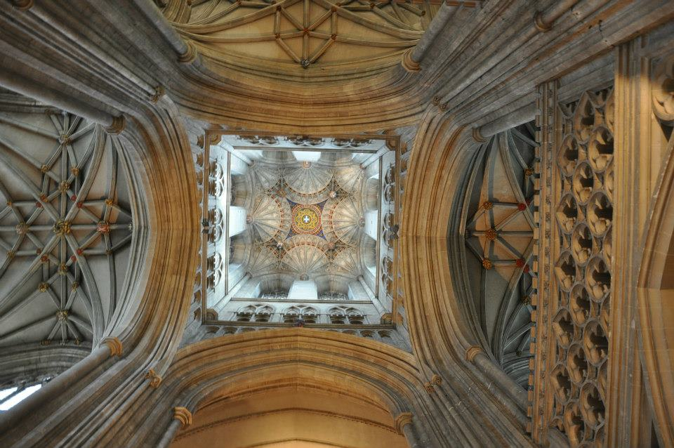 Spot the tiny white cross in the middle, Canterbury Cathedral, Kent, UK