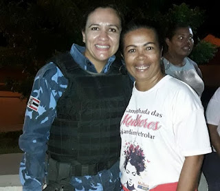 Alagoinhas: Mulheres do Jardim Petrolar participam de palestra da Ronda Maria da Penha