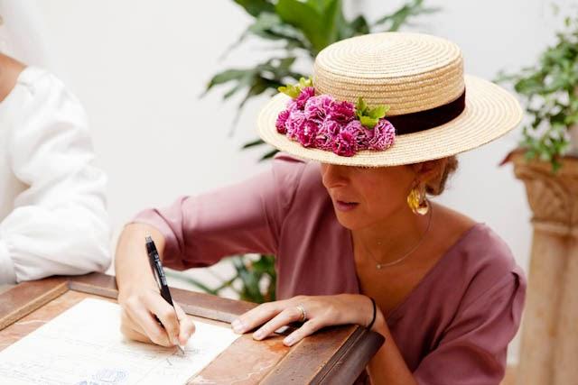 canotier invitada boda perfecta blog a todo confetti fiesta vestido