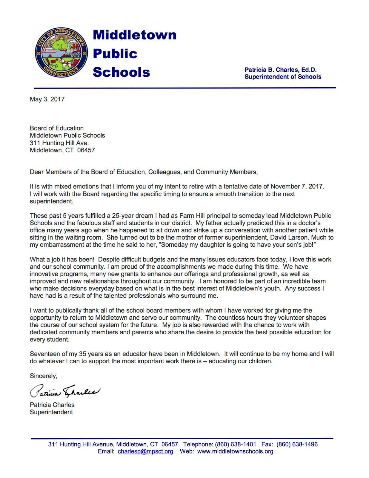 letter of intent to retire mersn proforum co