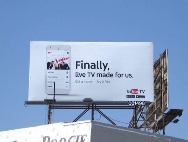 YouTube Live TV Voice billboard