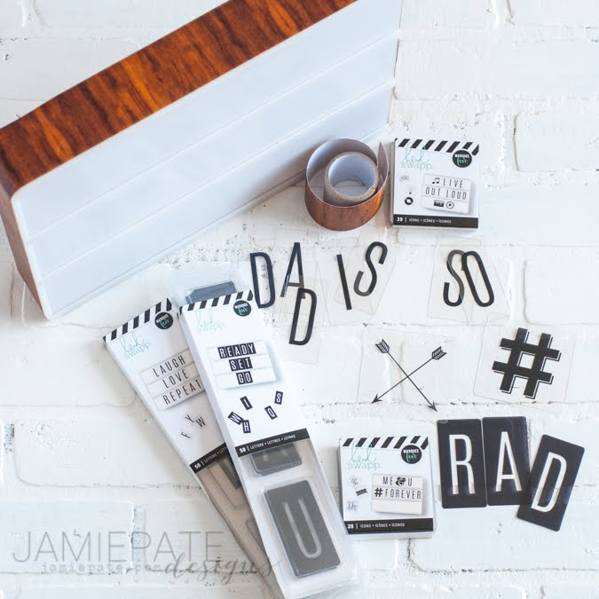 Father's Day Decor | Make use of the Heidi Swapp Lightbox to give Dad focus for his special day. @jamiepate for @heidiswapp