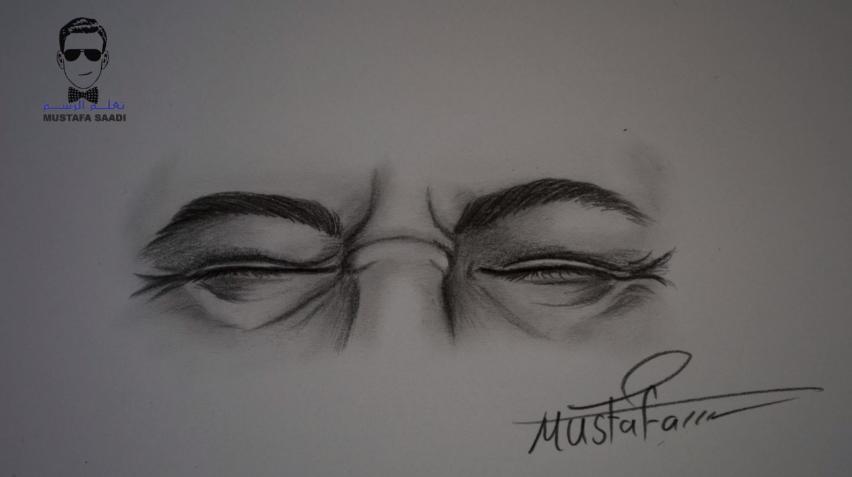 كيفية رسم ملامح الالم في العين بالرصاص للمبتدئين تعلم الرسم