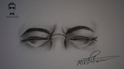 كيفية رسم العين بالرصاص