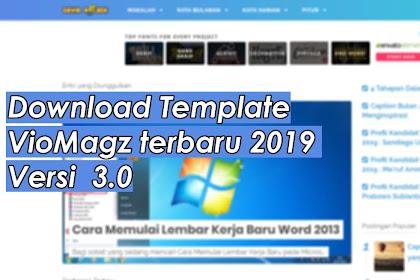 Download Template VioMagz terbaru 2019 Versi  3.1