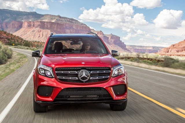 2016 Mercedes GLS 400 4MATIC red wallpapers