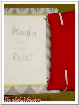 rote Stiftetasche Filz, Rückseite