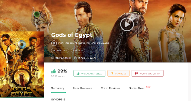 Gods of Egypt (2016) Full Hindi Dubbed Movie Download 300MB