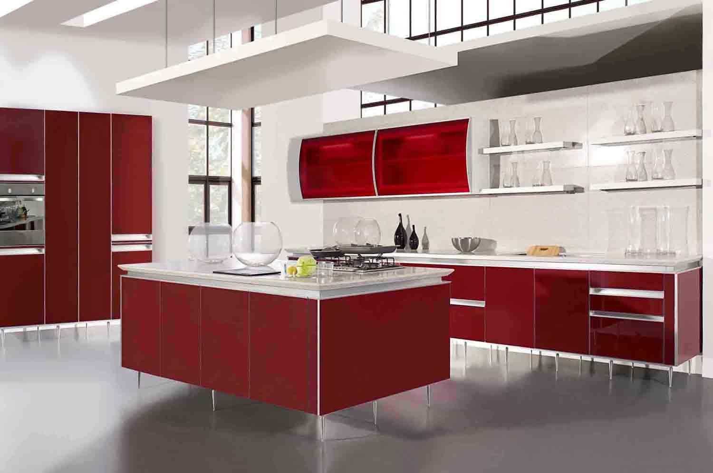 21 Desain Kitchen Sets Merah