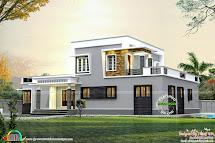 1800 Sq-ft Flat Roof Small Budget Home - Kerala