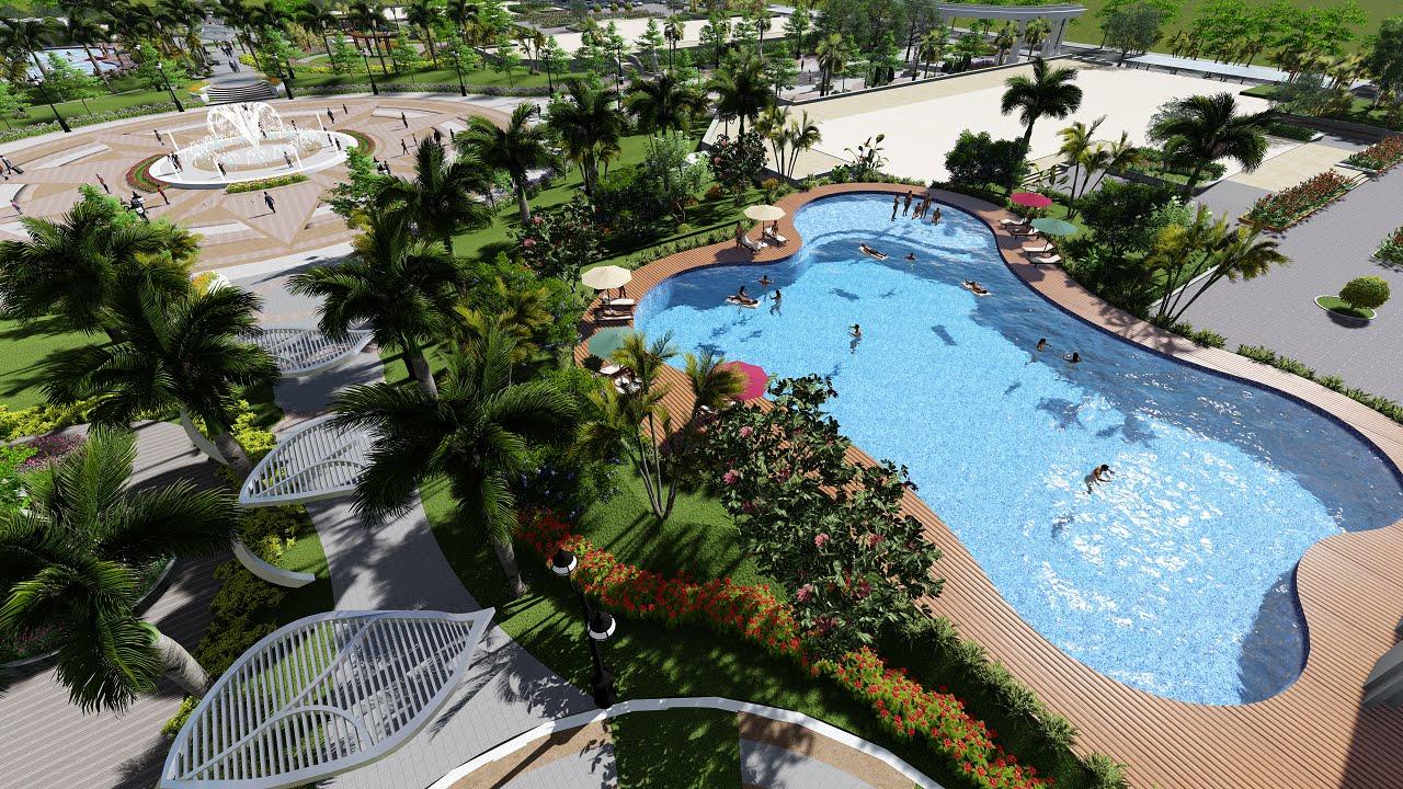 Bể bơi tuyệt đẹp tại chung cư Đức Giang.
