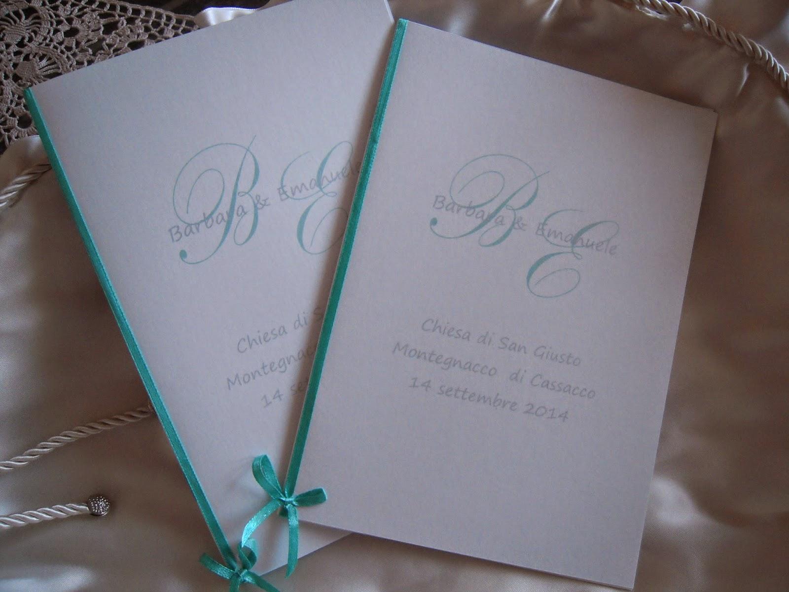 Eventidecor Libretti Messa Degli Sposi In Bianco E Tiffany