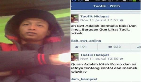 Orang ini Di Buru Netizen Karena Lecehkan Allah Swt dan Nabi Muhammad SAW
