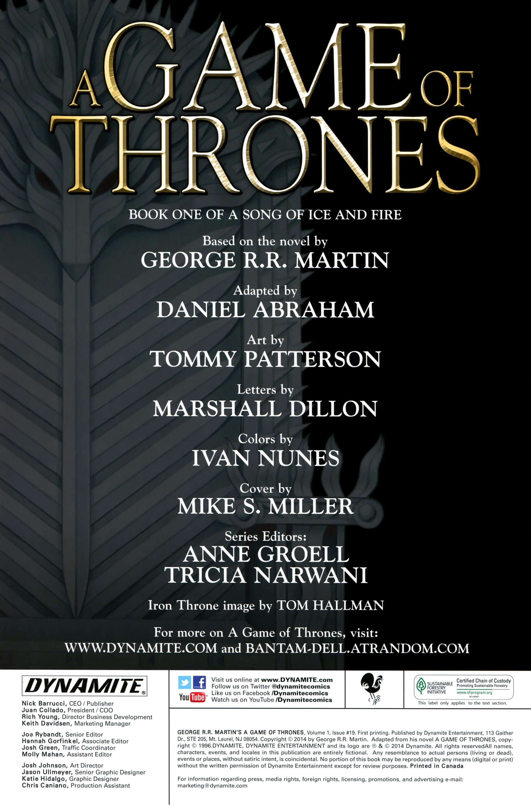 Read online A Game Of Thrones comic -  Issue #19 - 2