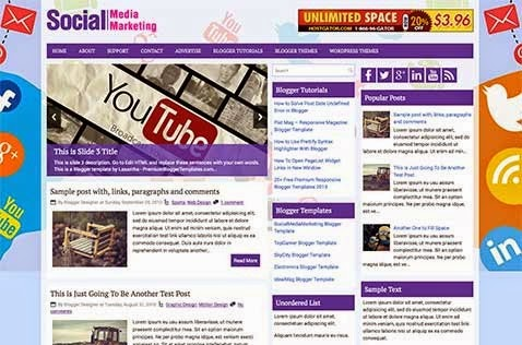 Socia lMedia Marketing blogger template 2014 for blogger or blogspot,ads ready blogger template 2014 2015