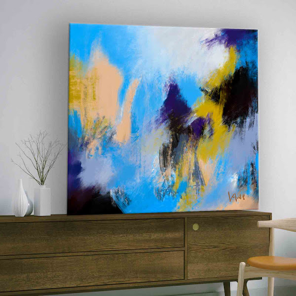 Blue Skies-Large Abstract Downloadable Print