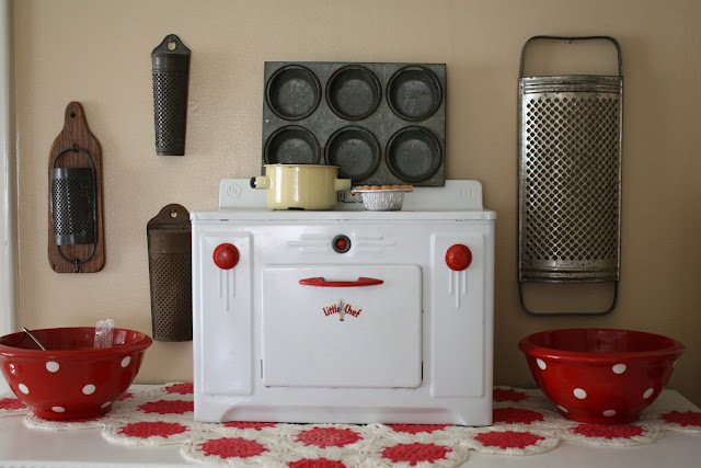 vintage toy kitchen stove