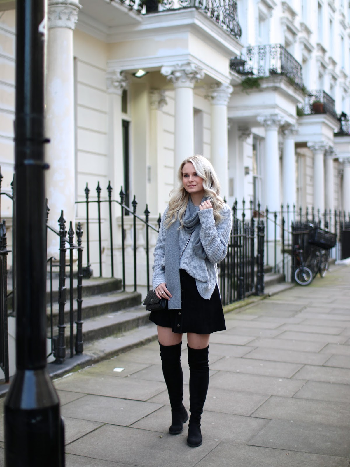 how to style an all grey outfit