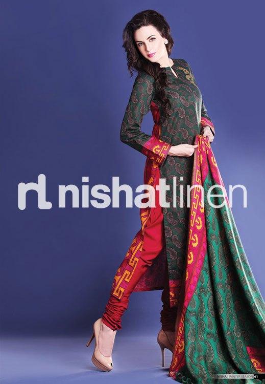 Fashion Ki Dunia Latest Nishat Linen Karandi Winter