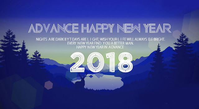 Advance Happy New Year 2018 Bye GoodBye 2017 Image
