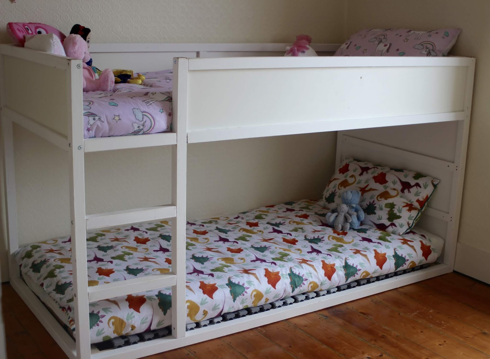 The IKEA Kura bed was slotted onto the