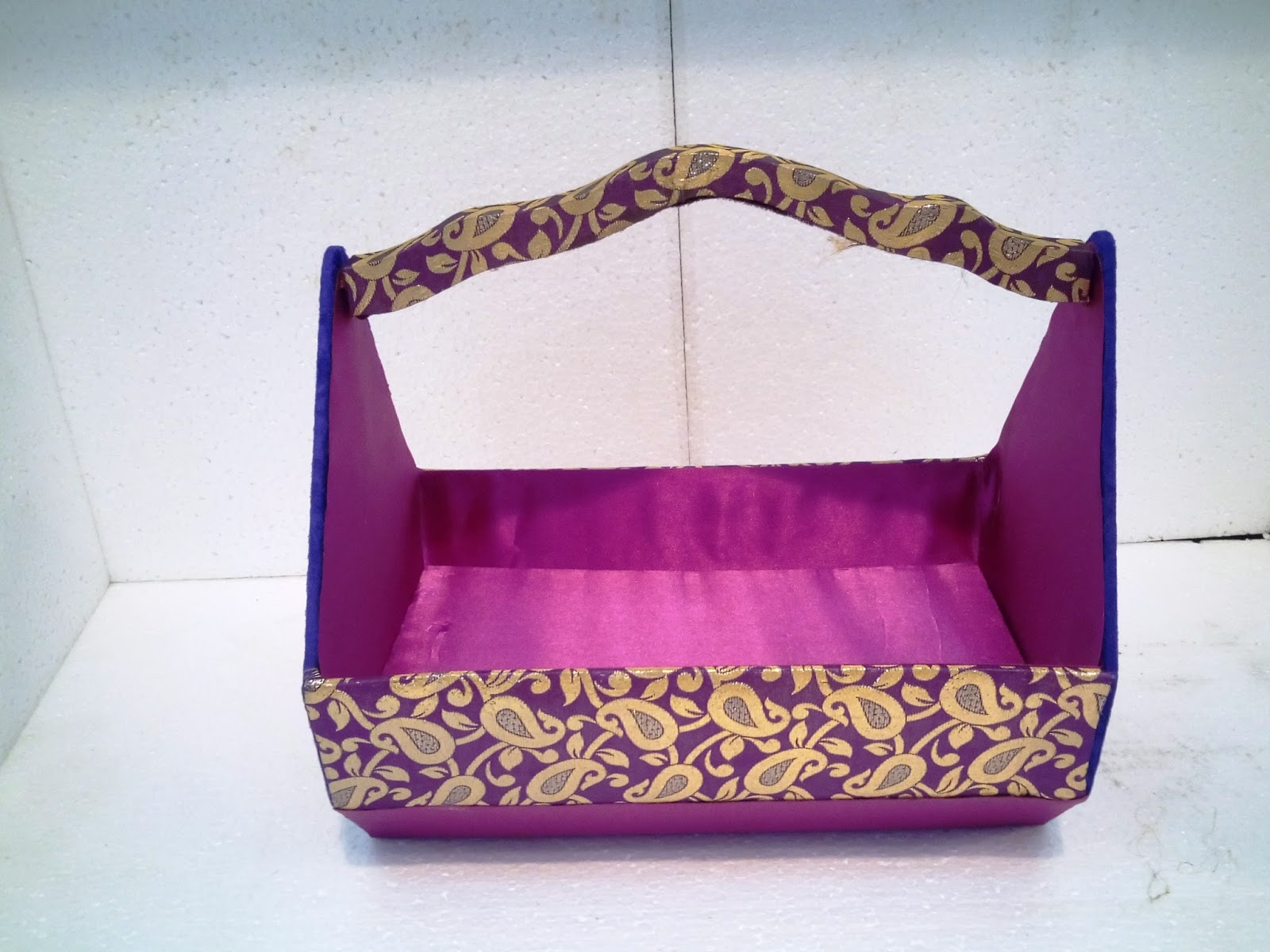 Wedding basket, gift basket, fancy basket, decorative basket, metal ...