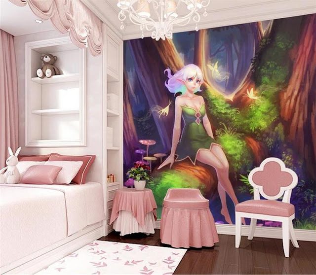 Fairy Wall Mural Wallpaper Girls Room Kids