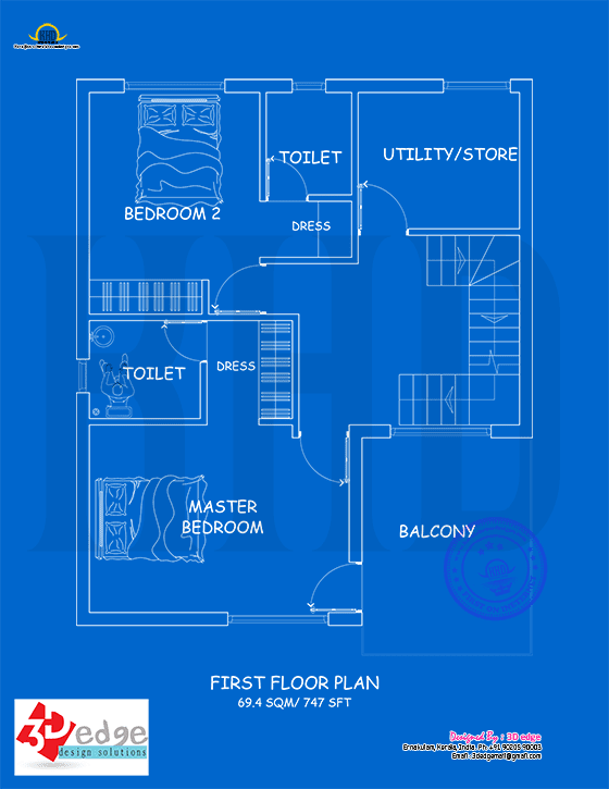 First floor blueprint