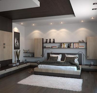 model plafon gypsum kamar tidur kecil