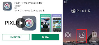 cara mengganti background foto merah biru di android