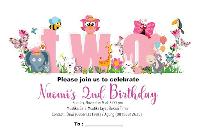 Naomi's 2nd Birthday Party - Themes: Cute Jungle