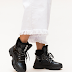 Ghete sport de dama cu talpa groasa negre la moda iarna 2019