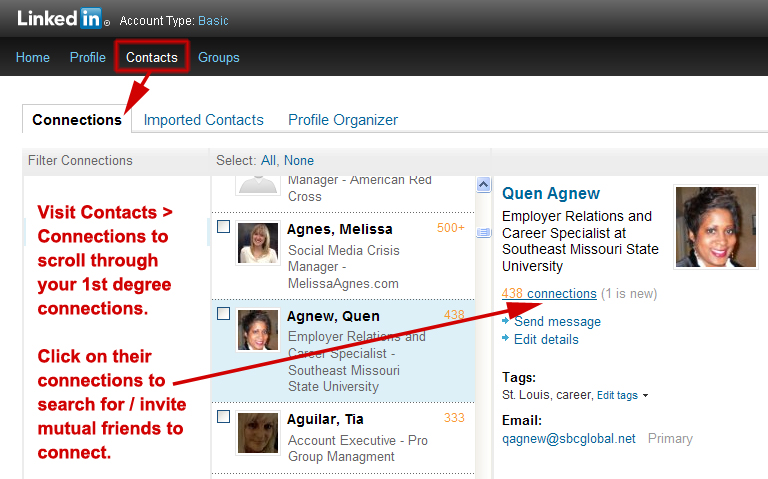 invite connections' connections to connect on LinkedIn, inviting your friends' friends to connect on LinkedIn,