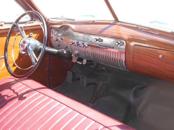 1951 Mercury Woodie Station Wagon Interior